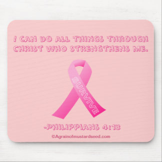 I can do all things through Christ Breast Cancer Mouse Pad