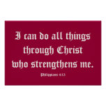I can do all things through Christ. Poster 2