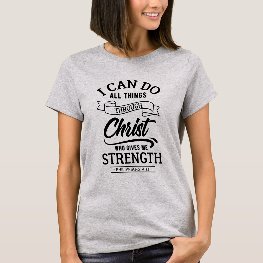 I Can Do All Things Through Christ T-Shirt - Best Selling Long-Sleeve Street Fashion Shirt Designs