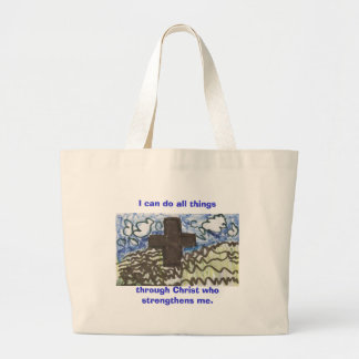 I can do all things, through Christ who strengt... Jumbo Tote Bag