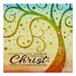 """""""I can do all Things Through Christ Who Strengthe"""" Poster"""