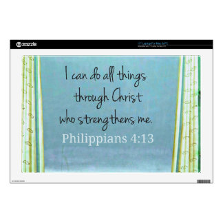 "I can do all things through Christ who strengthens 17"" Laptop Skins"