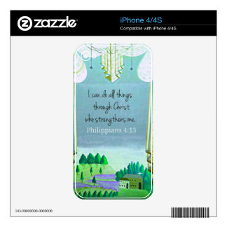 I can do all things through Christ who strengthens Skins For iPhone 4S