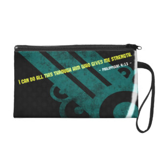 I can do all this who gives me strength . wristlet clutches