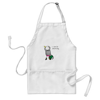 I can do anything. adult apron