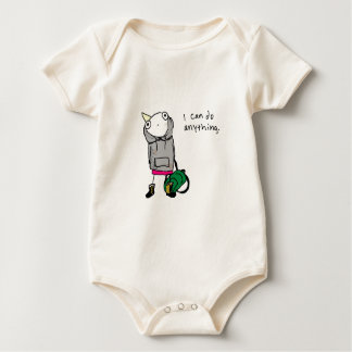 I can do anything. baby bodysuit