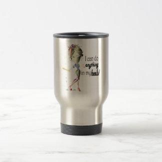 I can do Baseball in my Stiletto's! Fun Digital Ar Travel Mug