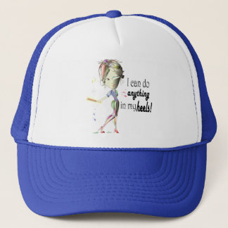 I can do Baseball in my Stiletto's! Fun Digital Ar Trucker Hat