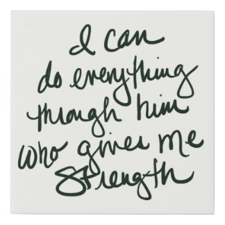 I can do everything - bible scripture art print