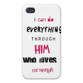 I can do everything through Him Case For iPhone 4