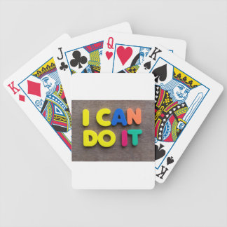 i can do it bicycle playing cards