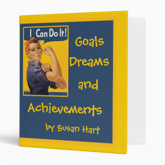 I Can Do It Goals and Achievements Binder Book