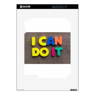 i can do it skin for iPad 2