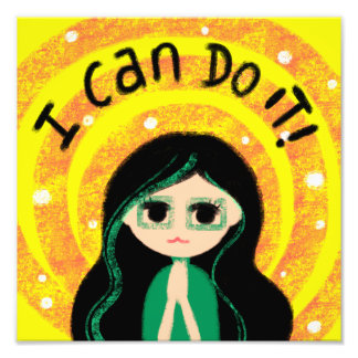 I Can Do It Uplifting Positivity Girl Painting Photo Print
