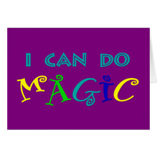 I can do magic, retro, playful, colorful card