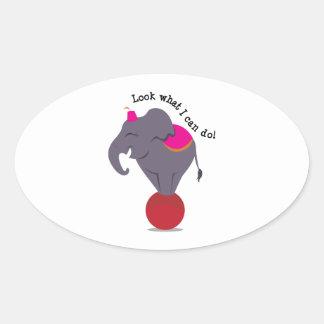 I Can Do! Oval Sticker