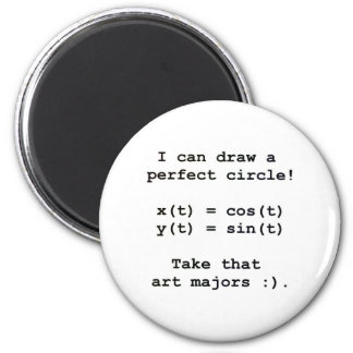 I can draw a perfect circle! 2 inch round magnet