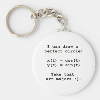 I can draw a perfect circle! basic round button keychain