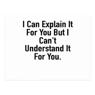 I Can Explain It For You But I Can't Understand It Postcard
