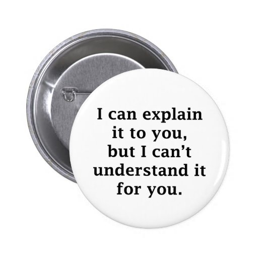 I Can Explain It To You Pinback Button