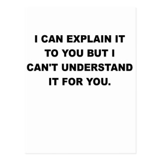I CAN EXPLAIN IT TO YOU.png Postcard