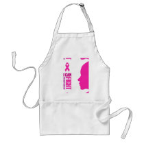 I can fight breast cancer- support women adult apron