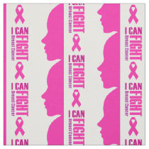 I can fight breast cancer- support women fabric