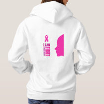 I can fight breast cancer- support women hoodie