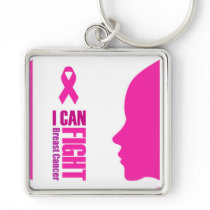 I can fight breast cancer- support women keychain