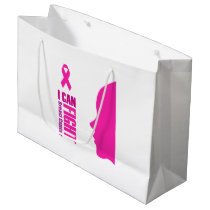 I can fight breast cancer- support women large gift bag