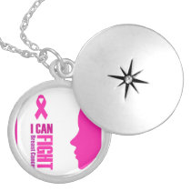 I can fight breast cancer- support women locket necklace