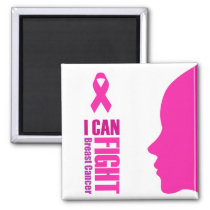 I can fight breast cancer- support women magnet