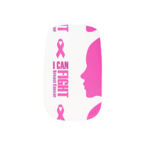 I can fight breast cancer- support women minx nail art