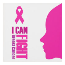 I can fight breast cancer- support women panel wall art
