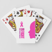 I can fight breast cancer- support women playing cards