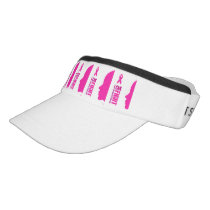 I can fight breast cancer- support women visor