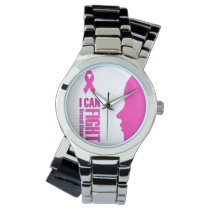 I can fight breast cancer- support women wrist watch