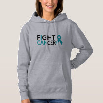 I can fight cancer teal hoodie