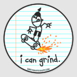 I can grind. round stickers