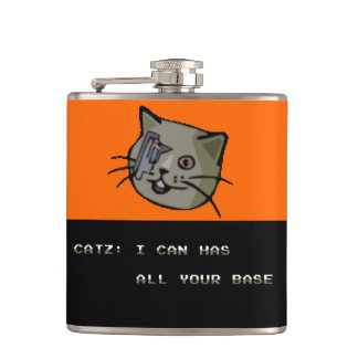 I Can Has All Your Base? Hip Flask