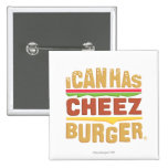 I Can Has Cheezburger 2 Inch Square Button