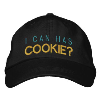 I can has cookie? embroidered baseball cap
