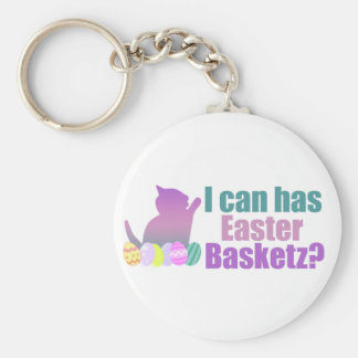 I can has Easter Basket Keychains