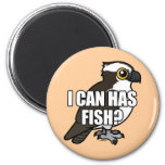 I Can Has Fish? 2 Inch Round Magnet