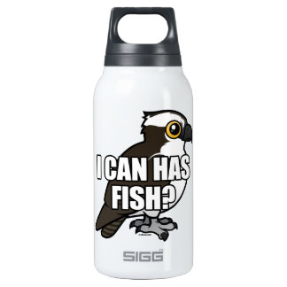 I Can Has Fish? Insulated Water Bottle