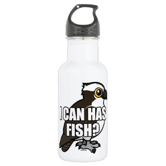 I Can Has Fish? Stainless Steel Water Bottle