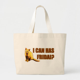 I can has Fridai? Canvas Bags