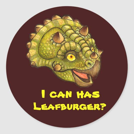 I can has Leafburger? Classic Round Sticker