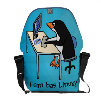 I can has Linux? Courier Bag