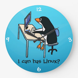 I can has Linux? Large Clock